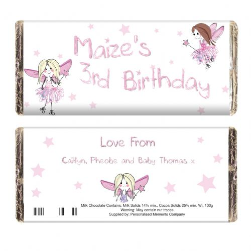 Personalised Fairy Chocolate Bar